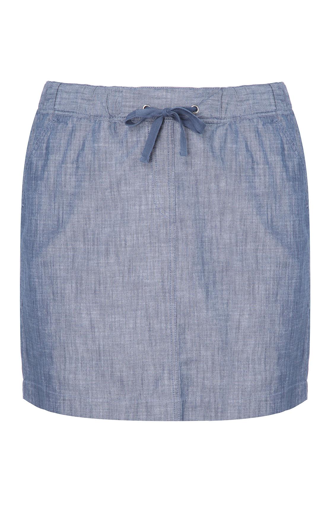 blue chambray lightweight denim skirt plus size 16 18 20
