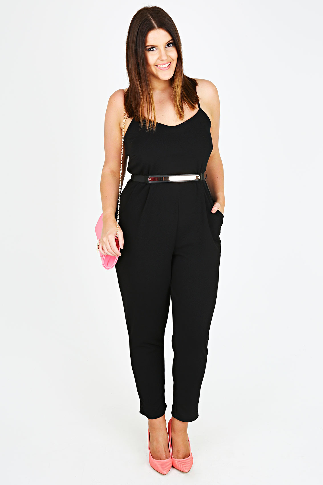 Jumpsuits & Rompers Flaunt your shape in sizes Expand your day to day and occasionwear options with our super sleek figure flattering range of women's jumpsuits and rompers.