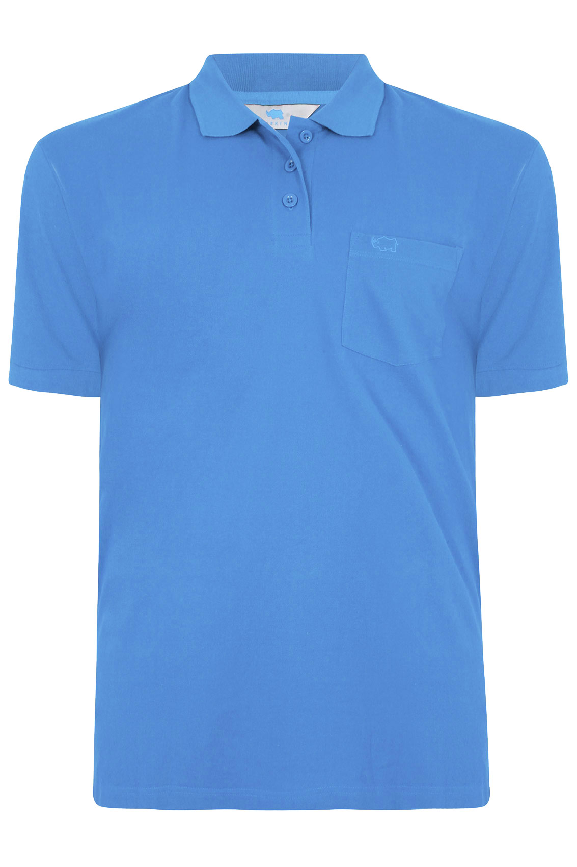 Badrhino blue plain polo shirt tall extra large sizes m for Big and tall custom polo shirts