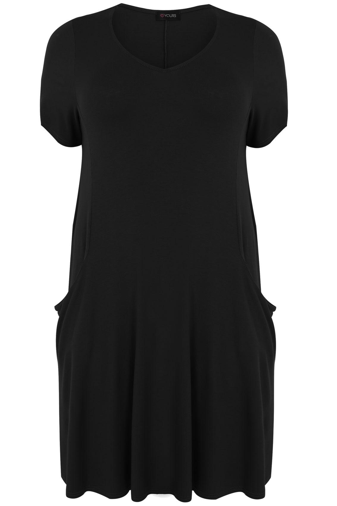 Black jersey dress with drop pockets plus size 16 18 20 22 for 20 34 35 dress shirts