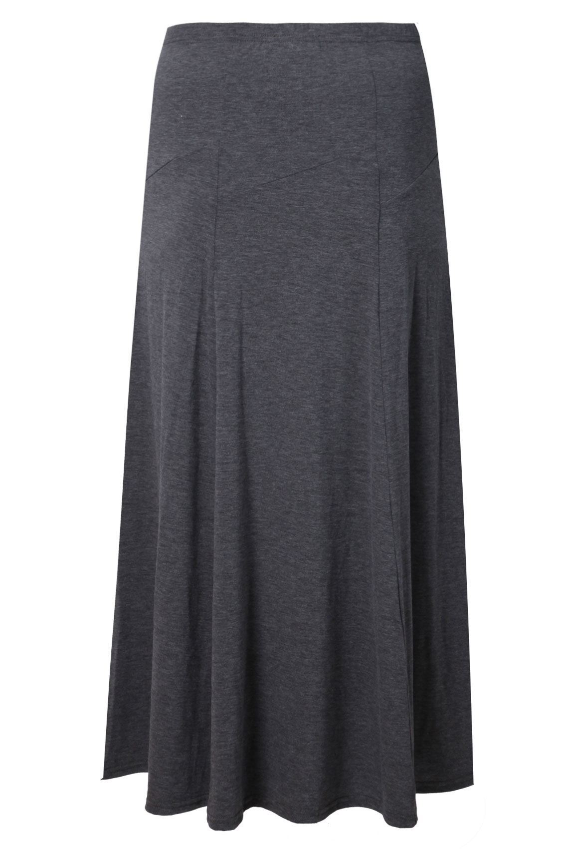 grey panelled jersey maxi skirt plus size 16 18 20 22