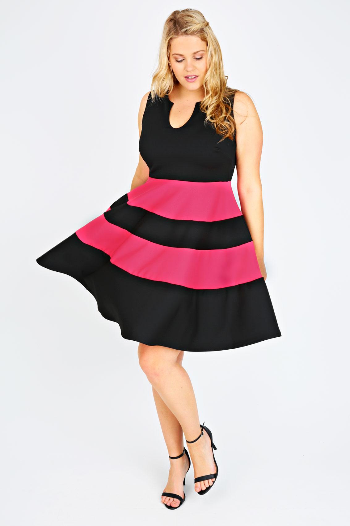 Pink Neon Skater Dress