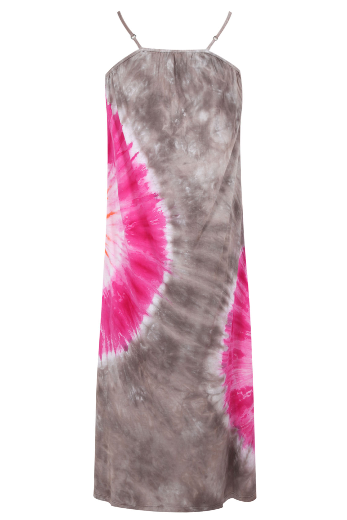 brown and pink tie dye sun burst strappy maxi dress plus size 14 16 18 20 22 24 26 28 30 32 34 36. Black Bedroom Furniture Sets. Home Design Ideas