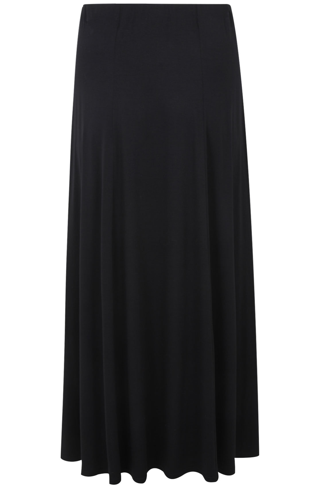 black panelled jersey maxi skirt